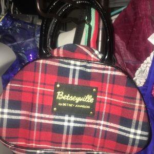 Betsyville by Betsy Johnson plaid purse
